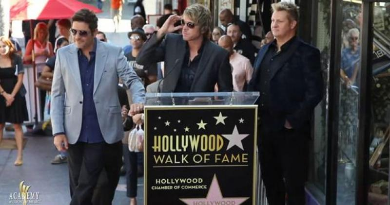 Rascal Flatts Hollywood Walk of Fame Ceremony